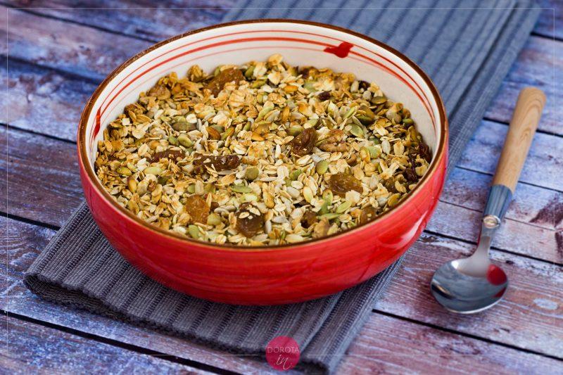 Granola domowa – prażone płatki owsiane