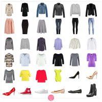 Garderoba kapsułowa na wiosnę - wiosenna szafa minimalna