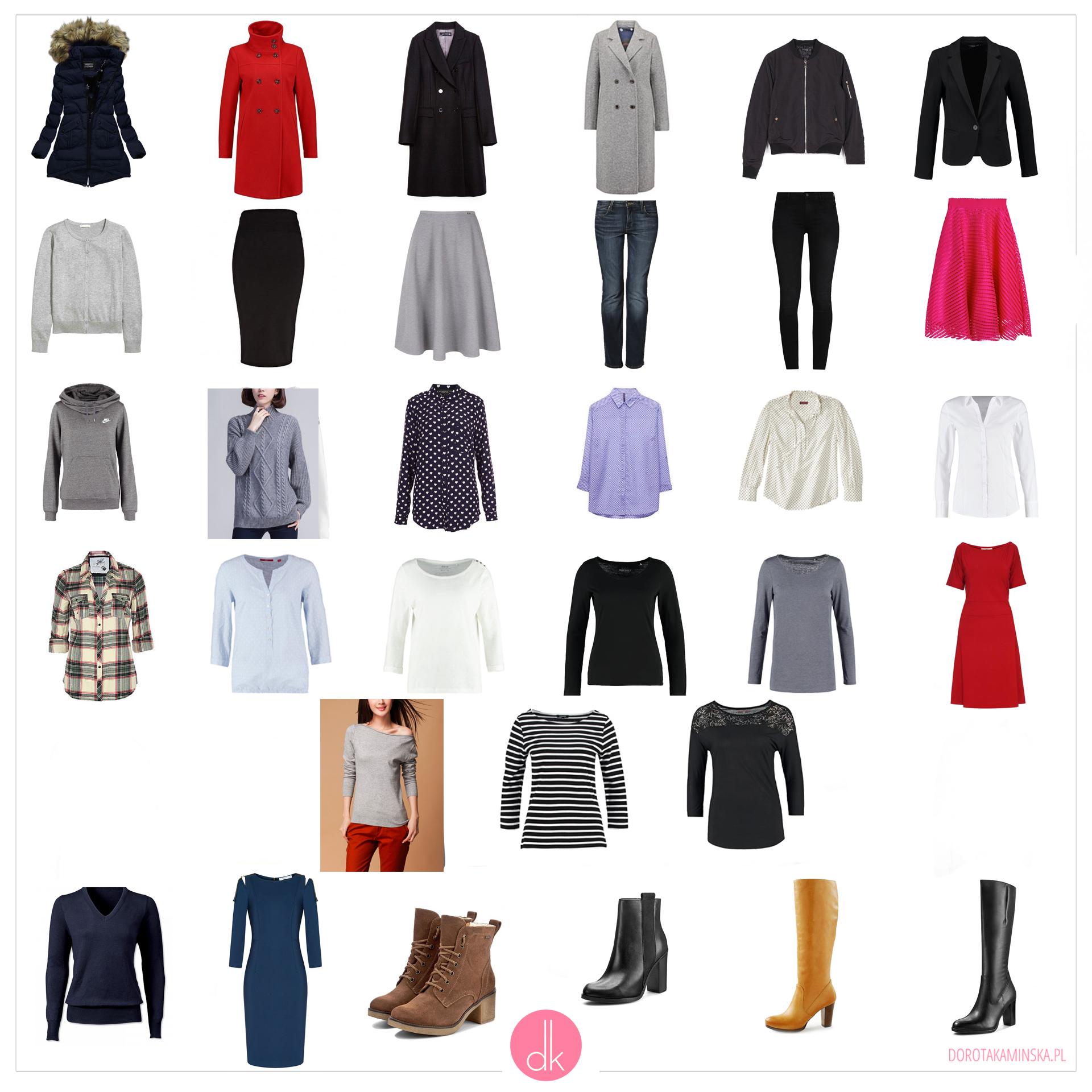 Garderoba kapsułowa na zimę - zimowa szafa minimalna