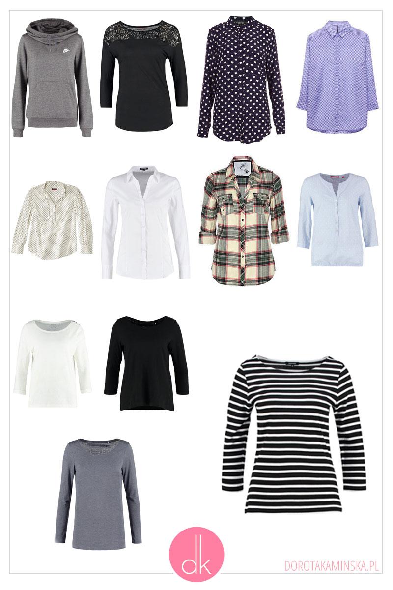 Bluzki, bluzy i koszule na zimę 2017 - garderoba kapsułowa
