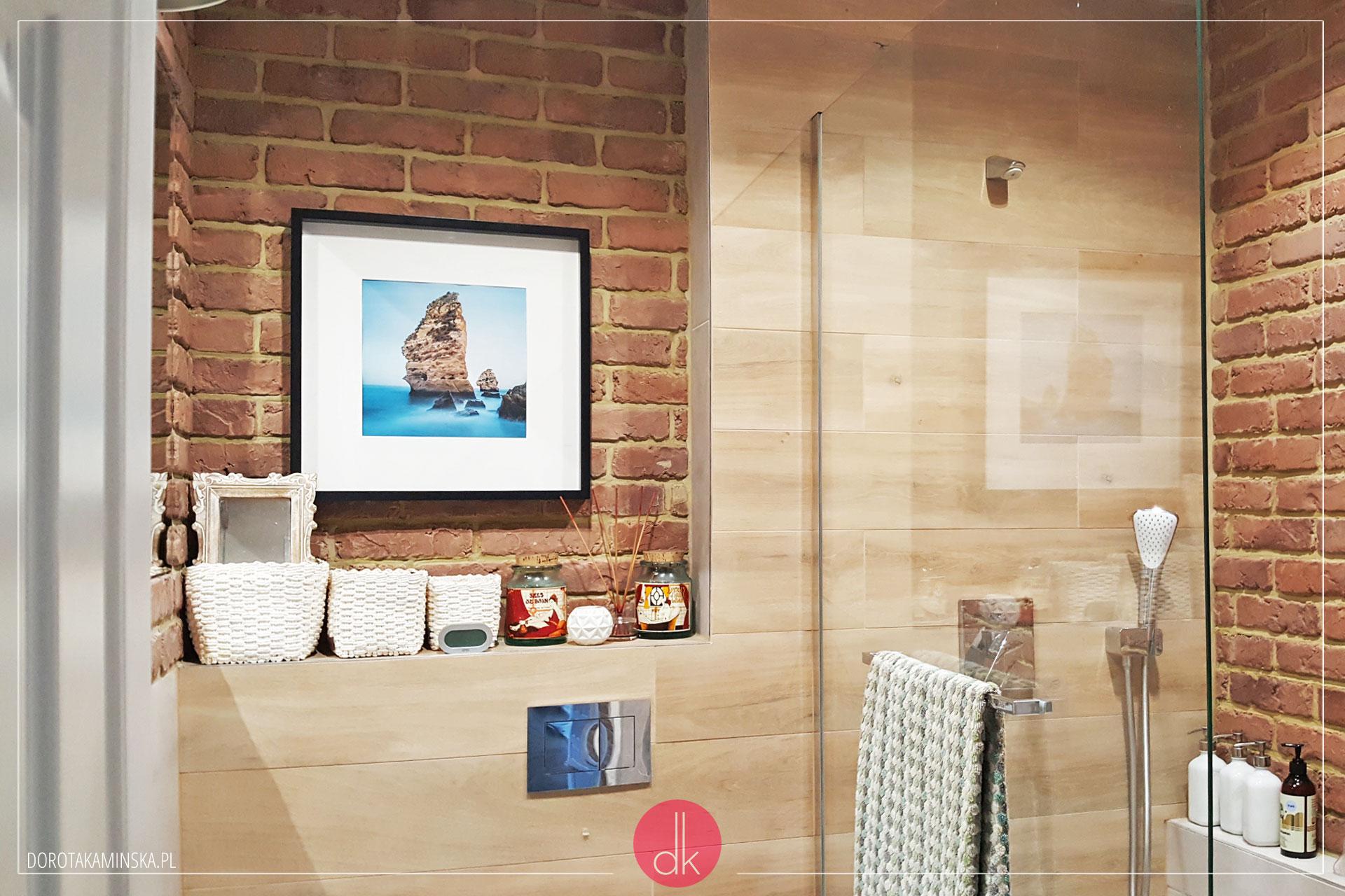 łazienka W Stylu Loft Czerwona Cegła Biel I Czerń Przepis